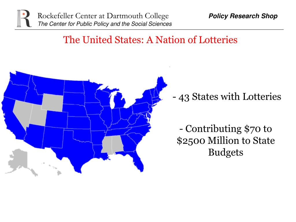 The United States: A Nation of Lotteries