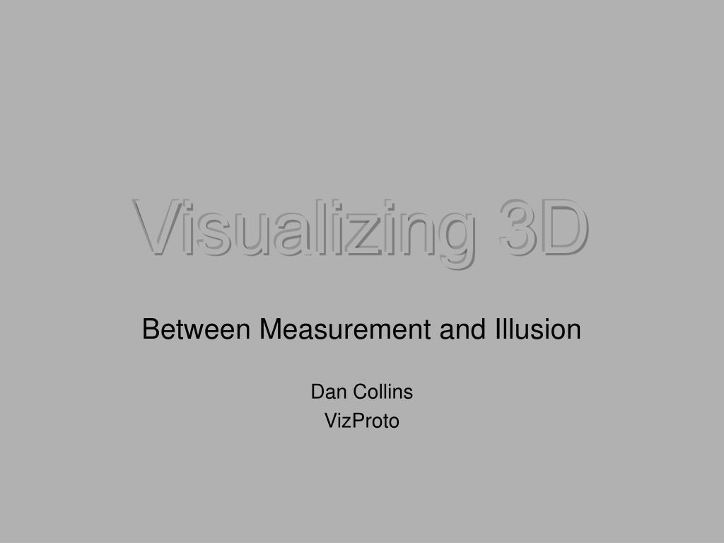 Visualizing 3D