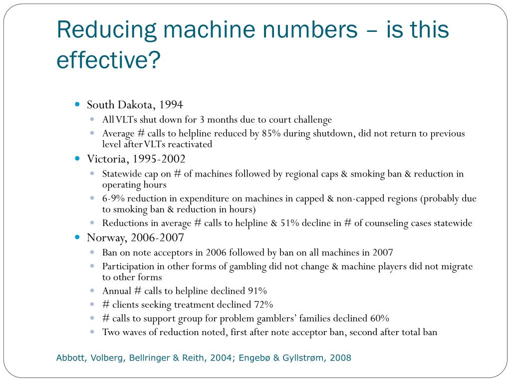 Reducing machine numbers – is this effective?