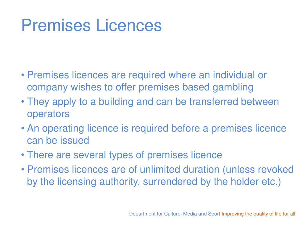 Premises Licences