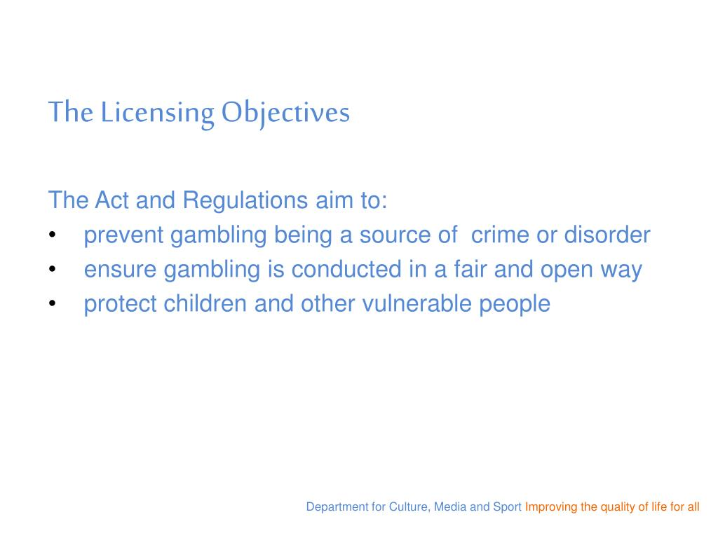 The Licensing Objectives