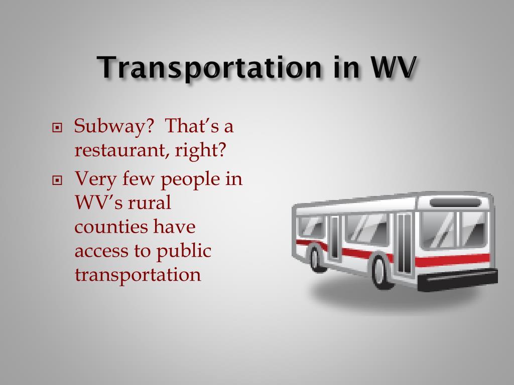 Transportation in WV