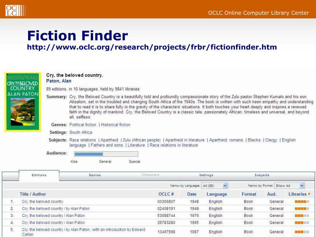 Fiction Finder