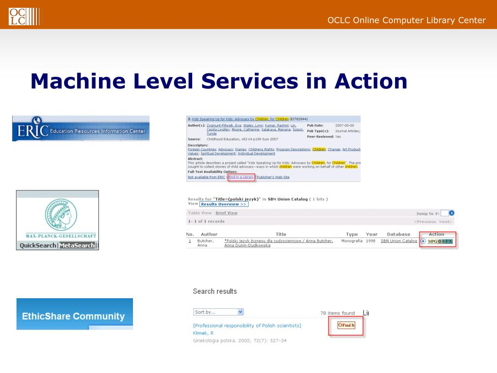 Machine Level Services in Action
