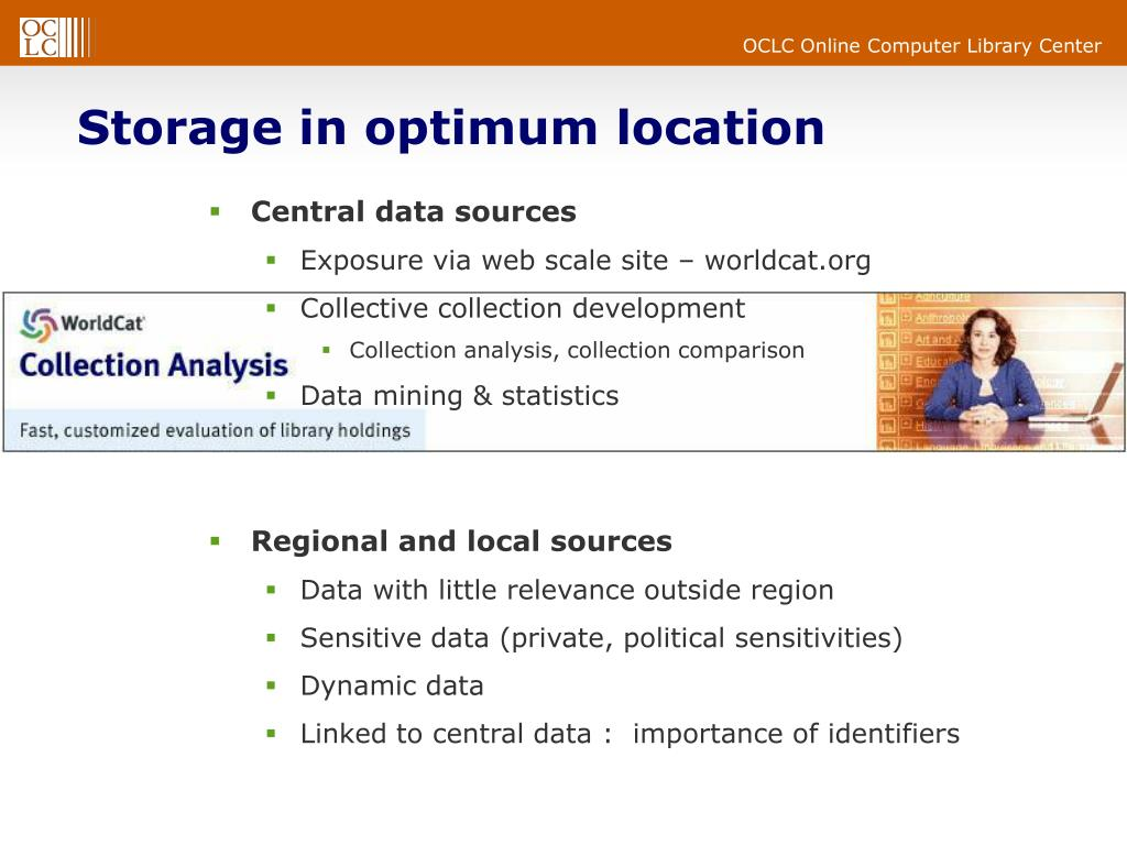 Storage in optimum location