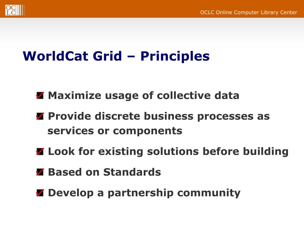 WorldCat Grid – Principles