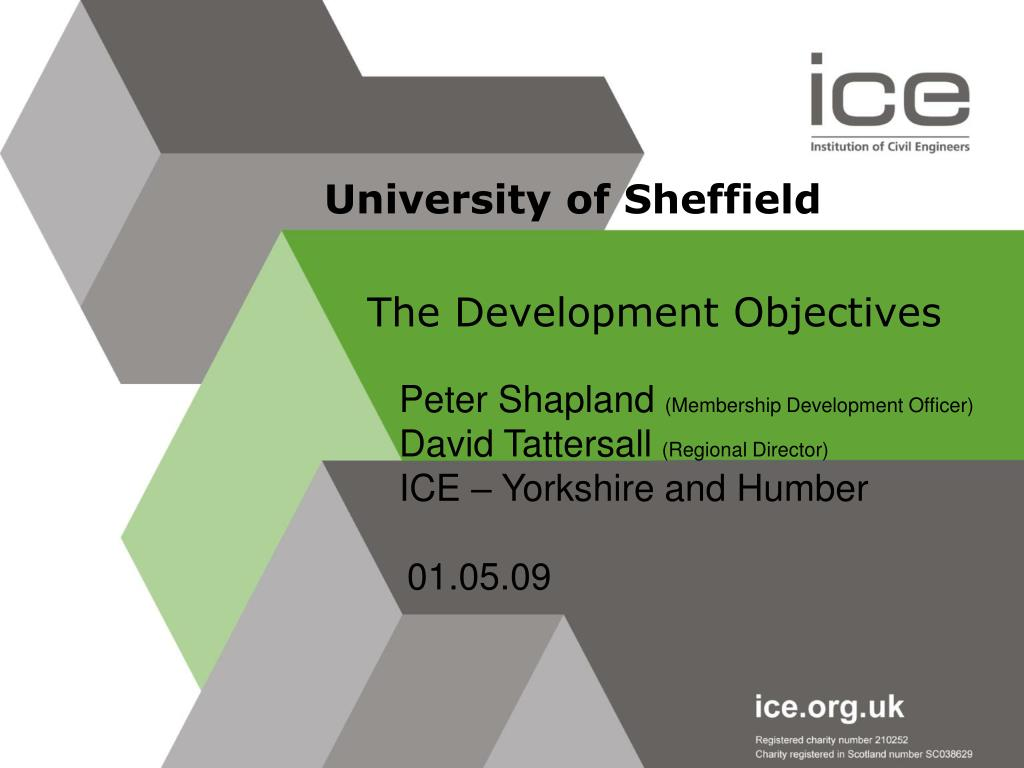 ice develoment objectives We introduce you to ice's attributes and what it takes to successfully reach the  level  the development objectives were based on the uk-spec guidelines.