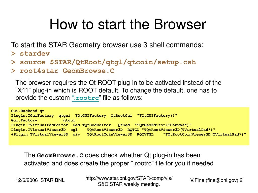 How to start the Browser