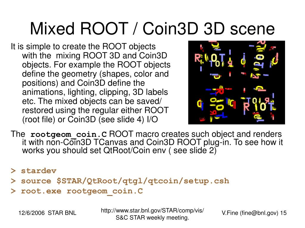 Mixed ROOT / Coin3D 3D scene