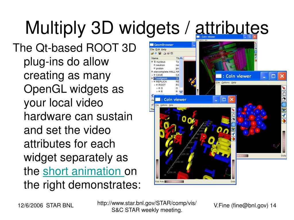 Multiply 3D widgets / attributes