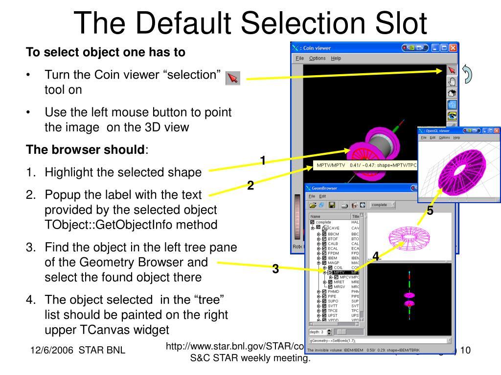 The Default Selection Slot