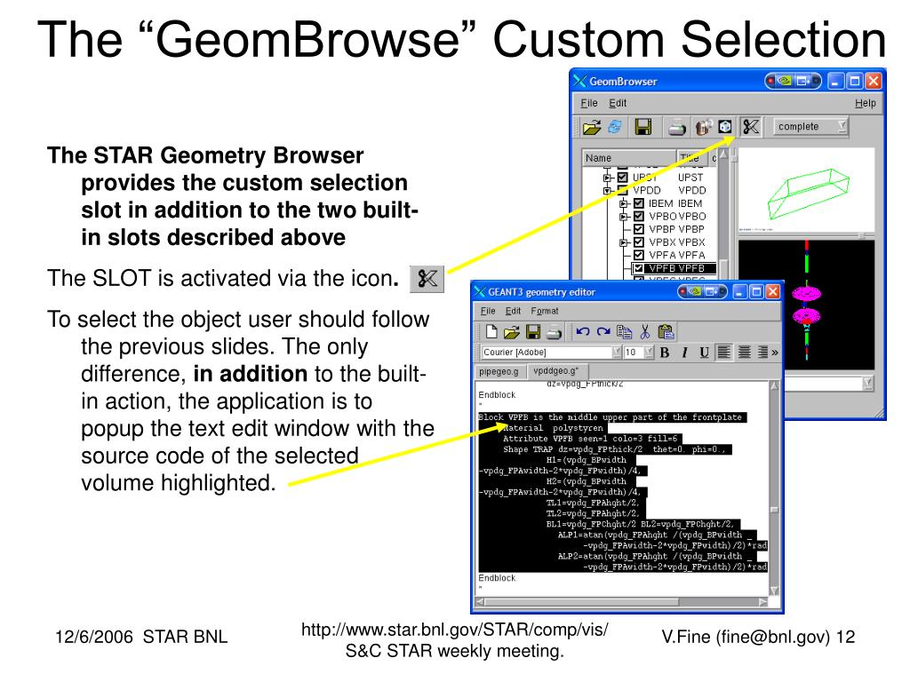 "The ""GeomBrowse"" Custom Selection"