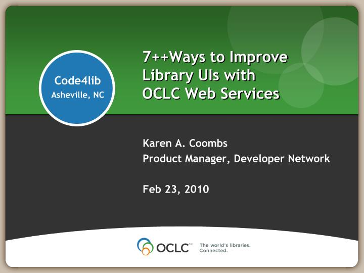 7 ways to improve library uis with oclc web services