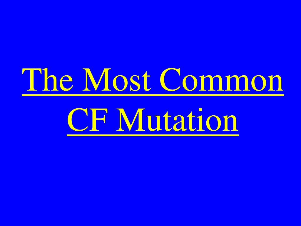 The Most Common