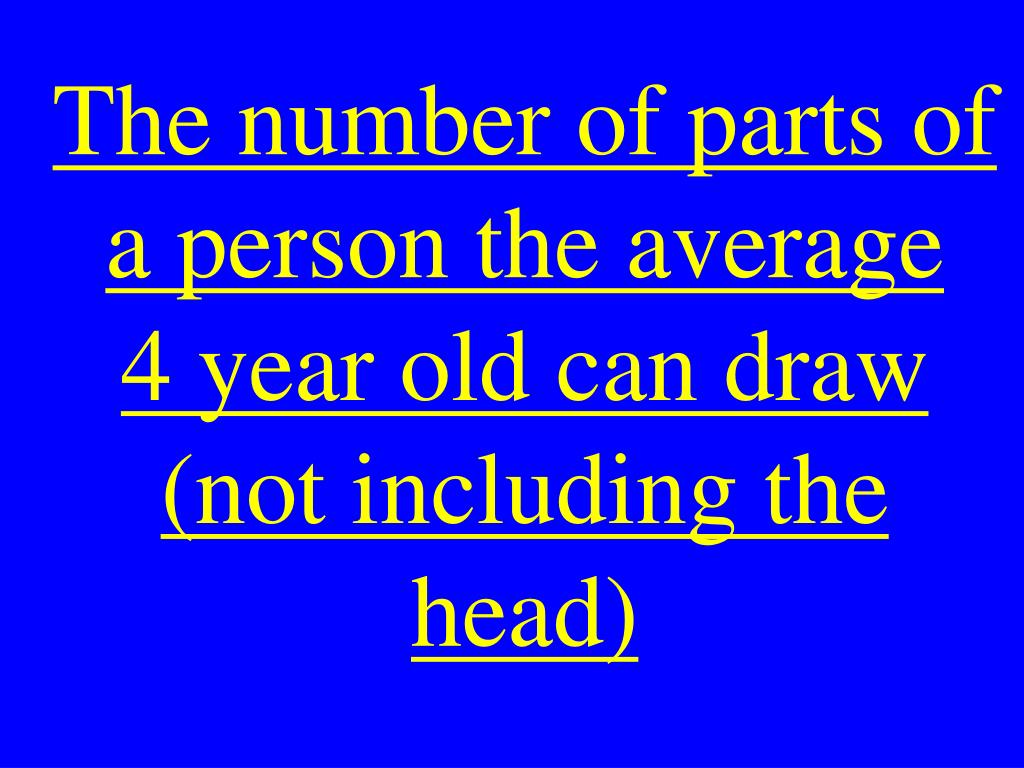The number of parts of a person the average