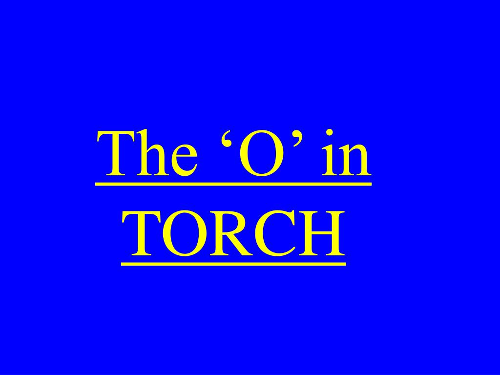 The 'O' in
