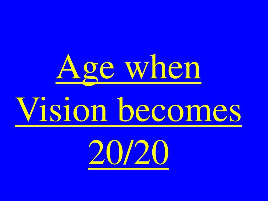 Age when