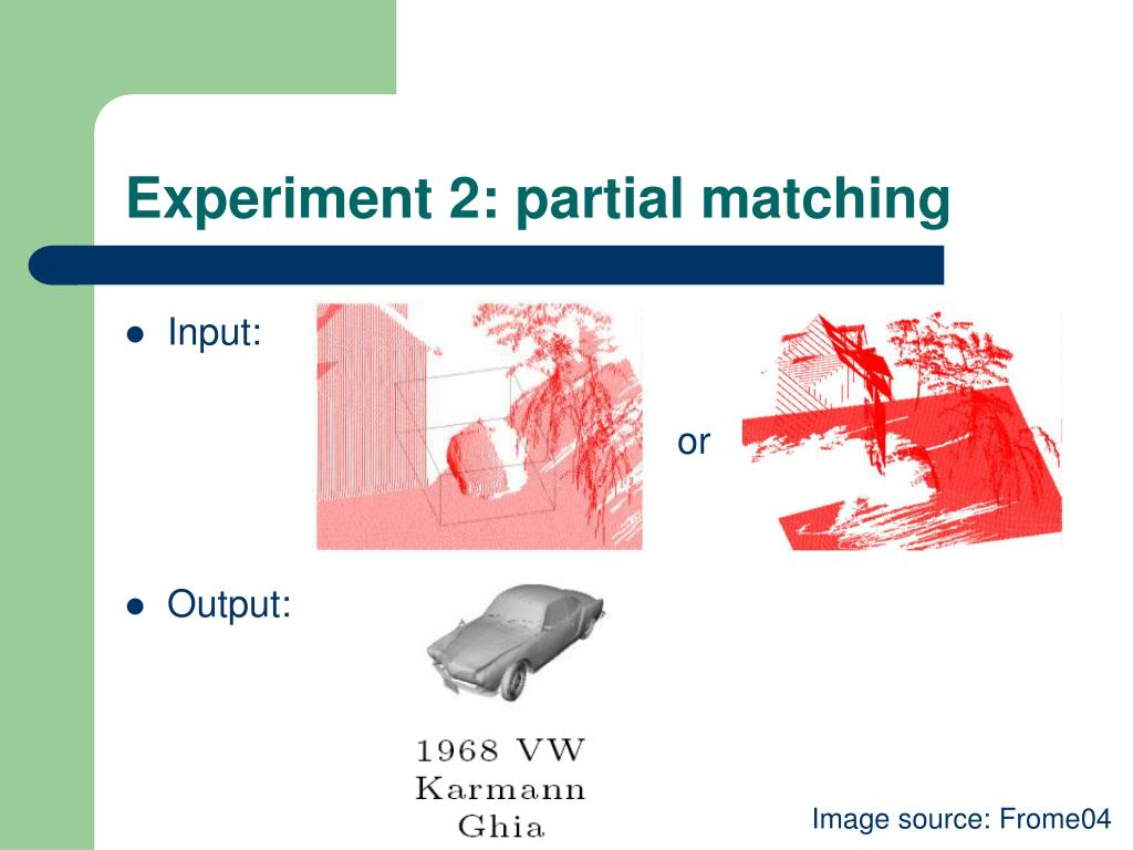 Experiment 2: partial matching