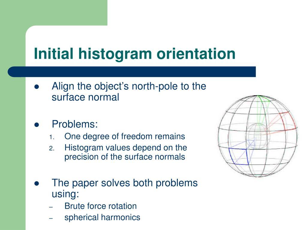 Initial histogram orientation