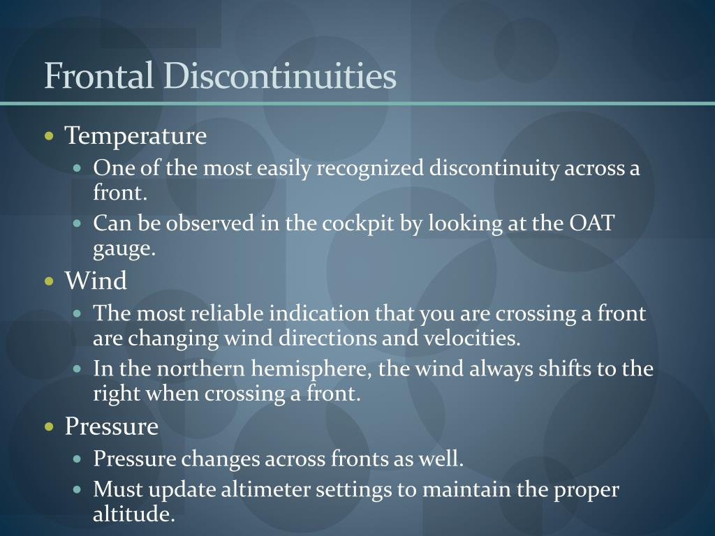 Frontal Discontinuities