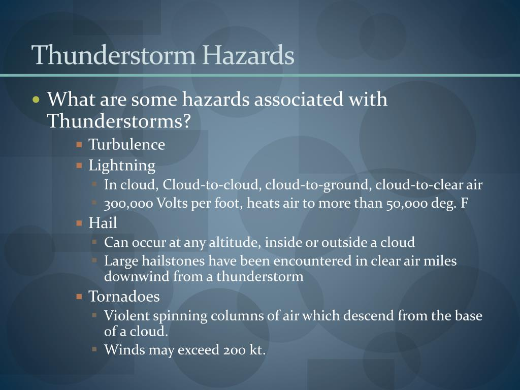 Thunderstorm Hazards