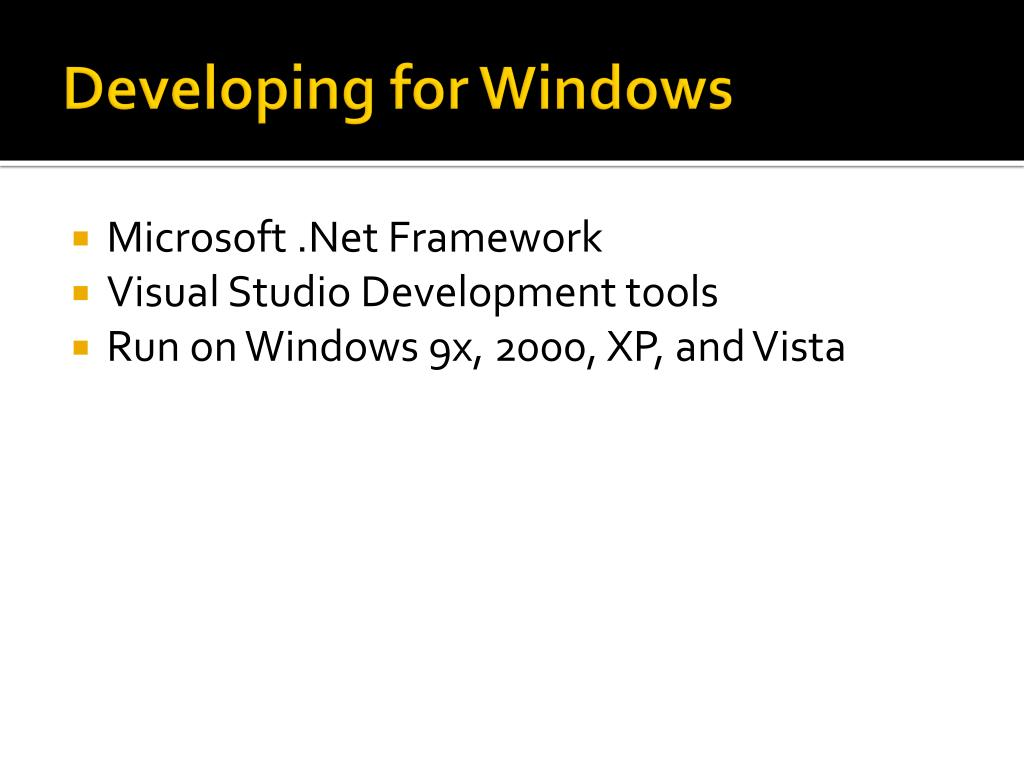Developing for Windows