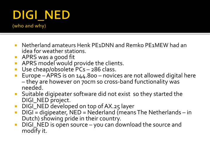 Digi ned who and why