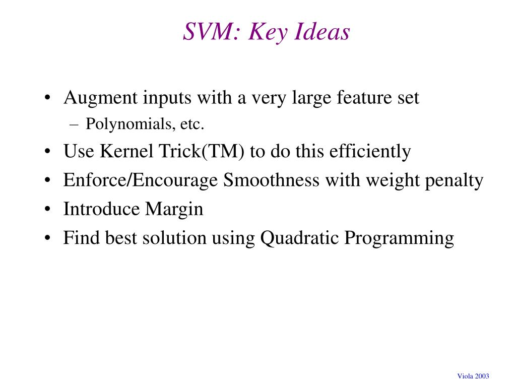 SVM: Key Ideas