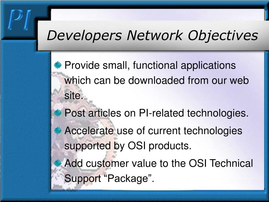 Developers Network Objectives