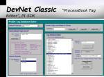 devnet classic processbook tag editor pi sdk