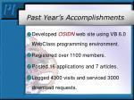 past year s accomplishments