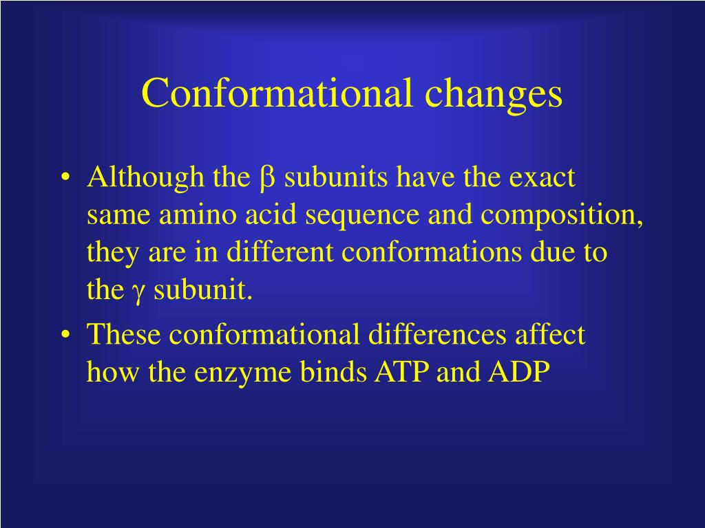 Conformational changes