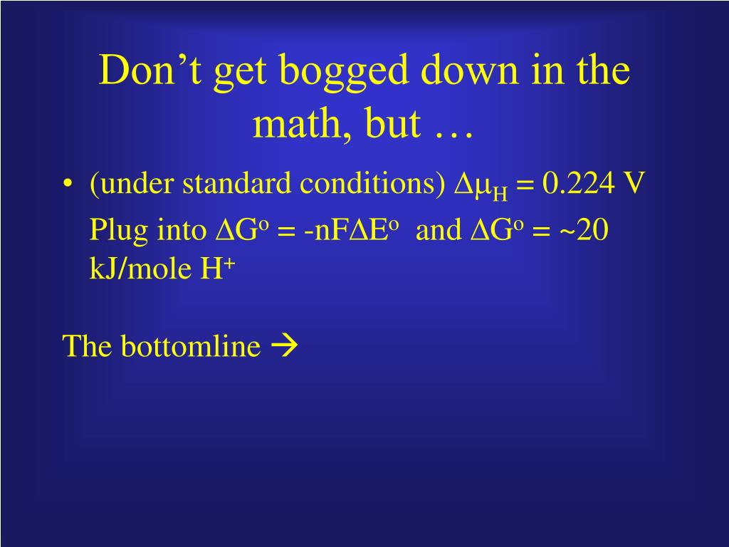 Don't get bogged down in the math, but …
