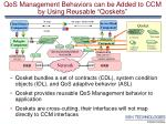 qos management behaviors can be added to ccm by using reusable qoskets