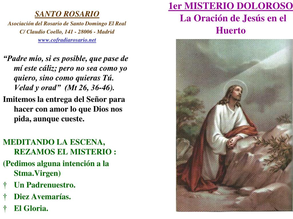 1er MISTERIO DOLOROSO
