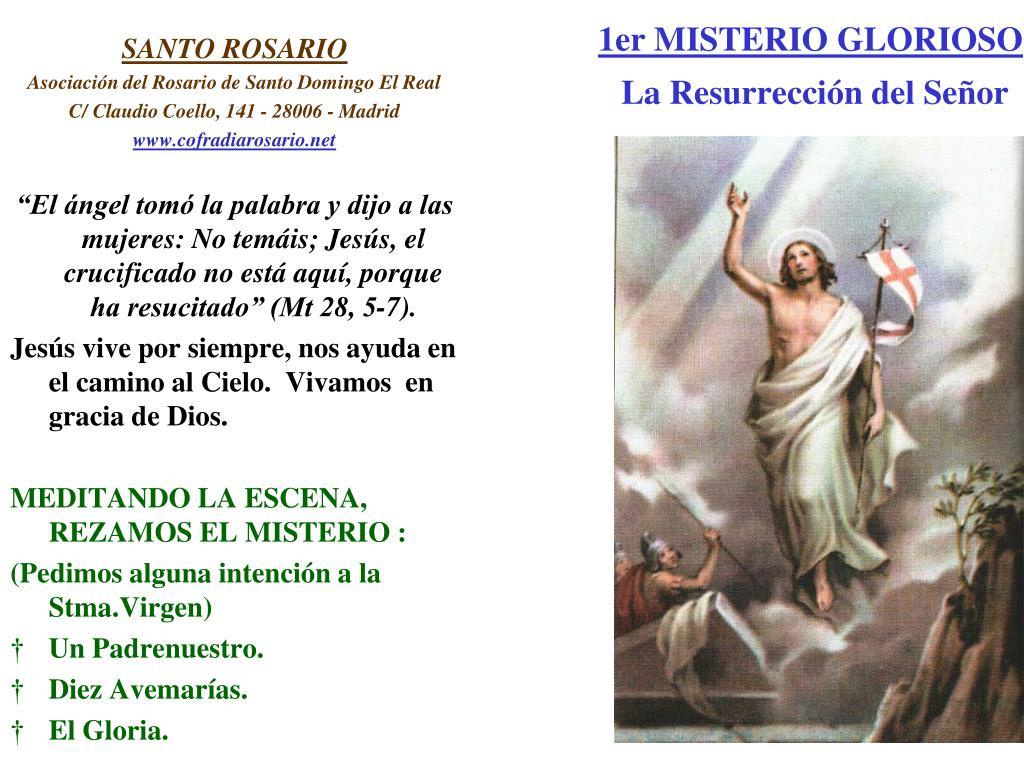 1er MISTERIO GLORIOSO
