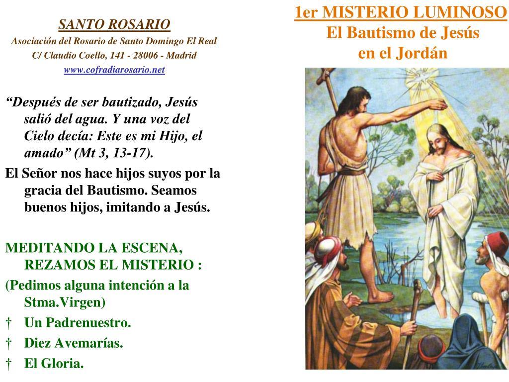 1er MISTERIO LUMINOSO