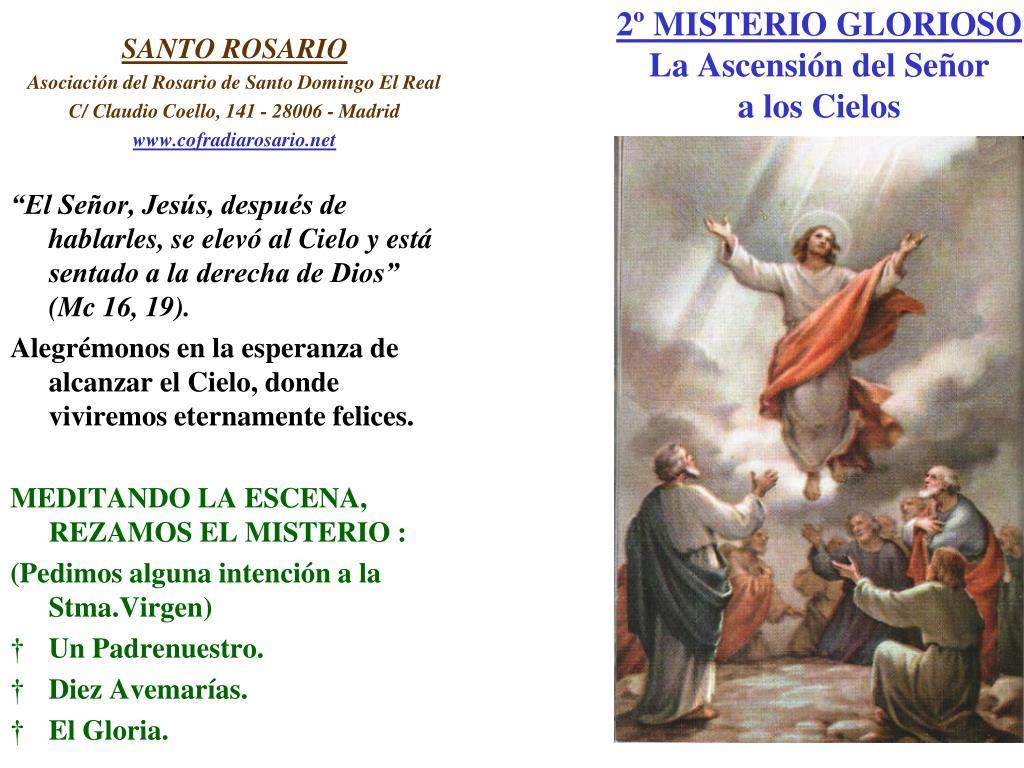2º MISTERIO GLORIOSO