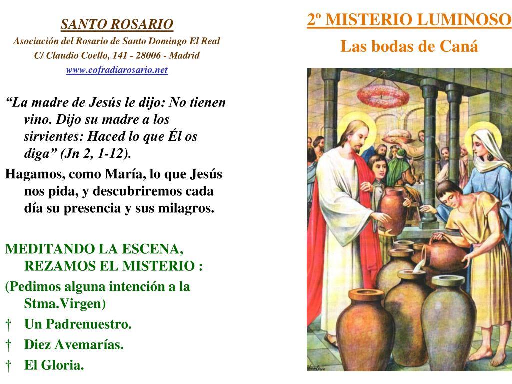 2º MISTERIO LUMINOSO