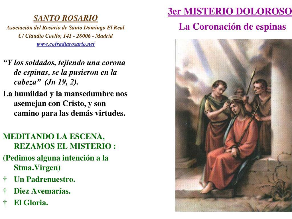 3er MISTERIO DOLOROSO