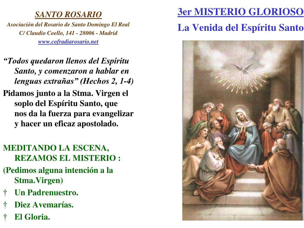 3er MISTERIO GLORIOSO