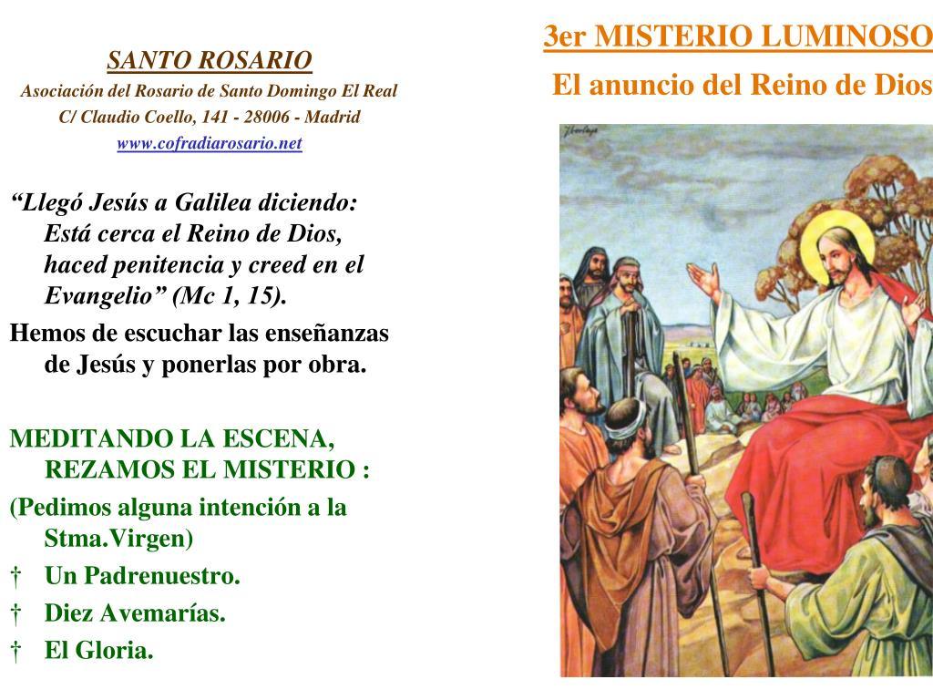 3er MISTERIO LUMINOSO