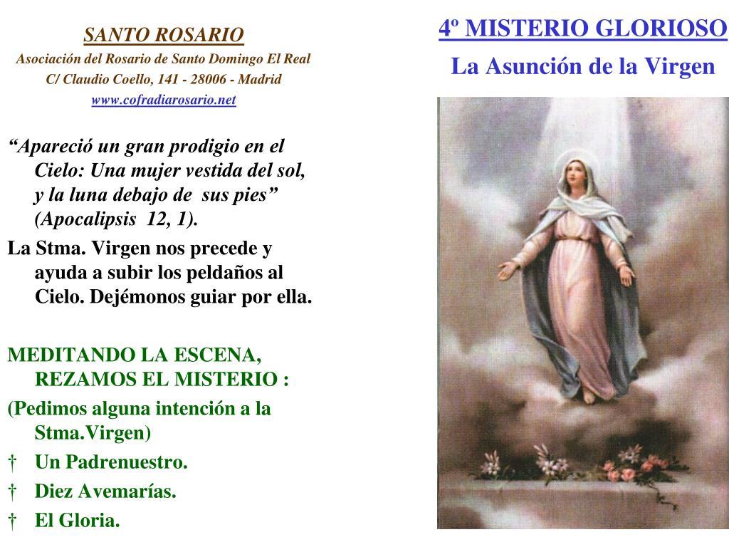 4º MISTERIO GLORIOSO