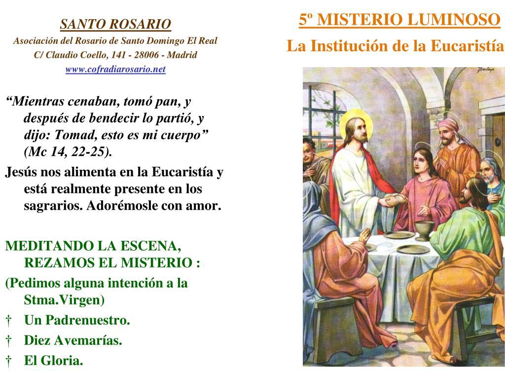 5º MISTERIO LUMINOSO