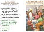 5 misterio luminoso la instituci n de la eucarist a