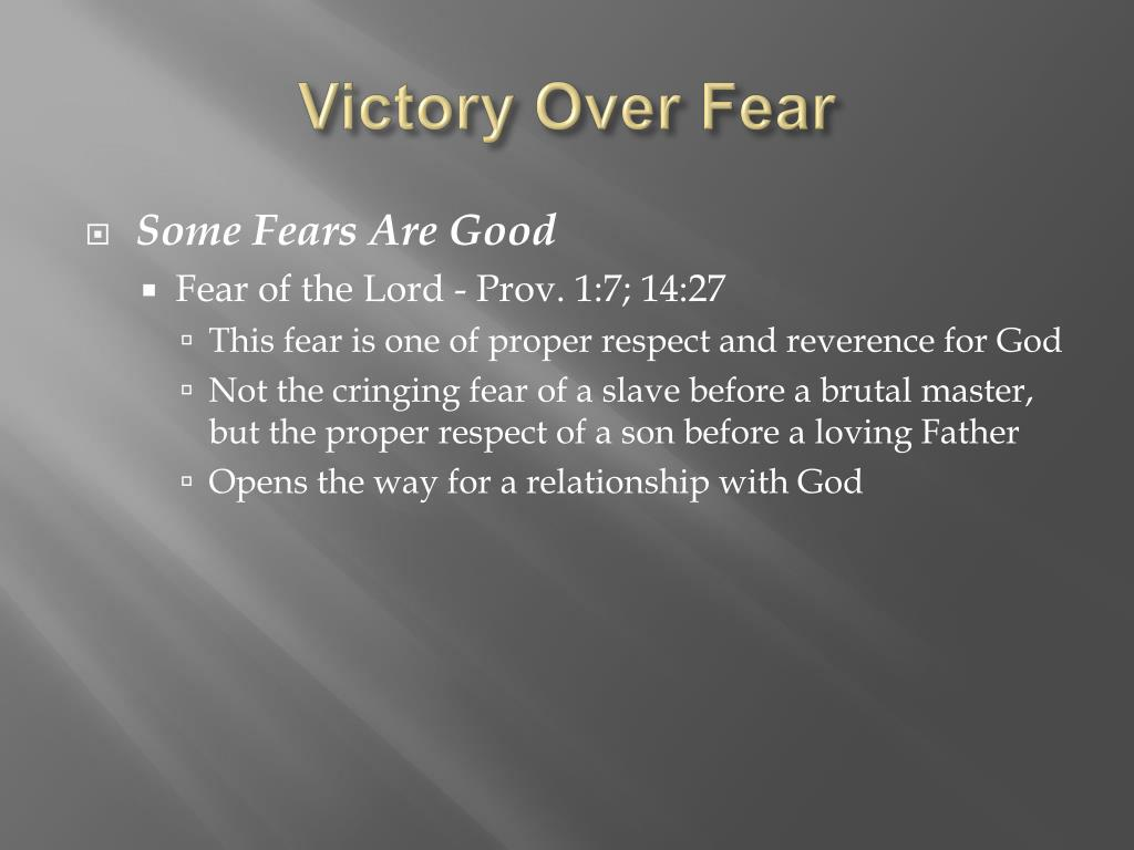 Victory Over Fear