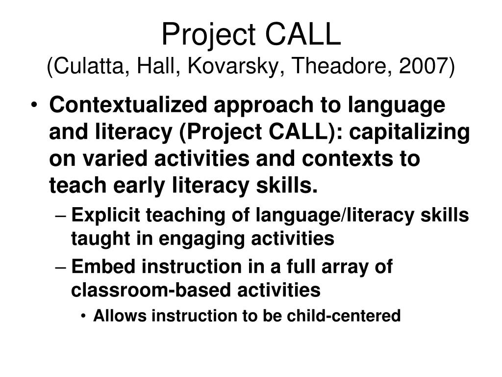 Project CALL