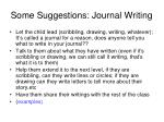 some suggestions journal writing