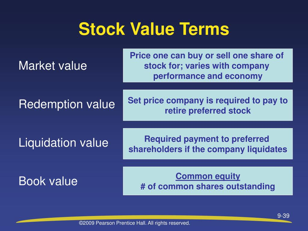 Stock Value Terms