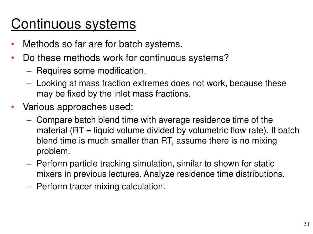 Continuous systems